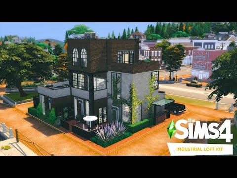 INDUSTRIAL LOFT HOUSE   The Sims 4 Industrial Loft Kit   NO CC  