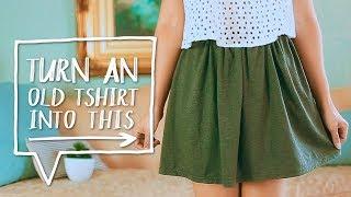 DIY | Trikotažinių marškinėlių transformacija į sijoną ♥ ♥ ♥ ♥ ♥ ♥