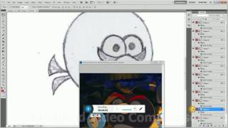 How To Draw Blue Bird ( Angry Bird ) In Photoshop Step by Step