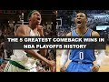 5 Of The LARGEST Comebacks In NBA Playoffs History