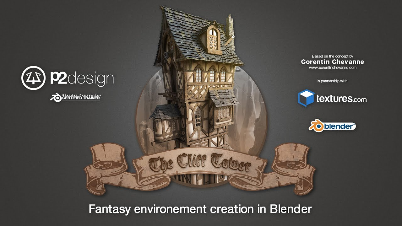 The Cliff Tower Fantasy – Blender 3D | FlippedNormals