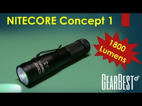 Nitecore Concept 1 - 1800 Lumen Flashlight from GearBest