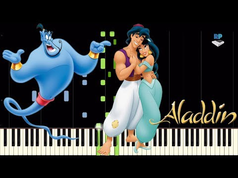 Disney's Aladdin - Arabian Nights - Piano Tutorial (Synthesia)
