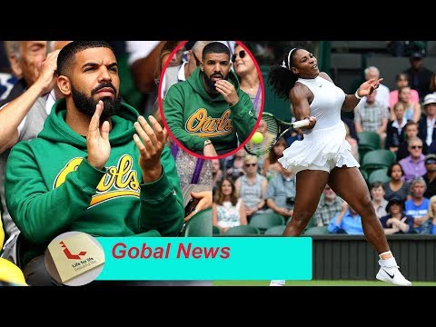 Drake supports 'ex' Serena Williams on Wimbledon's Centre Court! but fans beg him..Why?