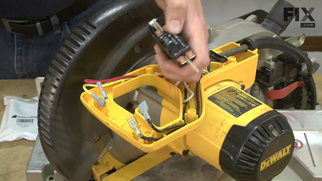 Dewalt Miter Saw Repair  U2013 How To Replace The Switch