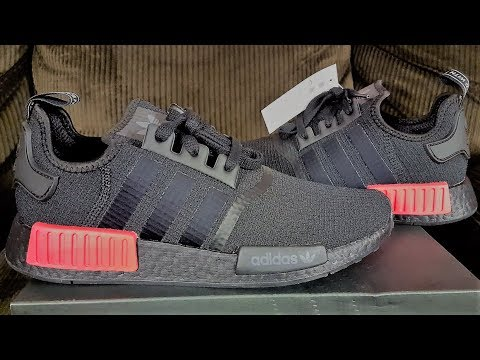 60046cf6a3de7 Early First Look! Hottest NMD R1 Of The Year ! Adidas NMD R1 Black Lust Red  2018 Review!