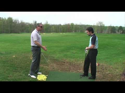 Lesson with Peter, Action to Target! 1 of 9; #1 Most Popular Golf Teacher on You Tube Shawn Clement