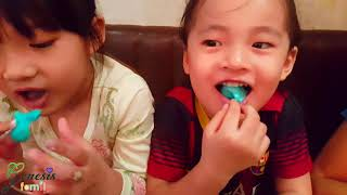 Sister Birthday Celebration Vlog UNICORN MILKSHAKE Funny Kids Review #GenesisKids Genesis Family +