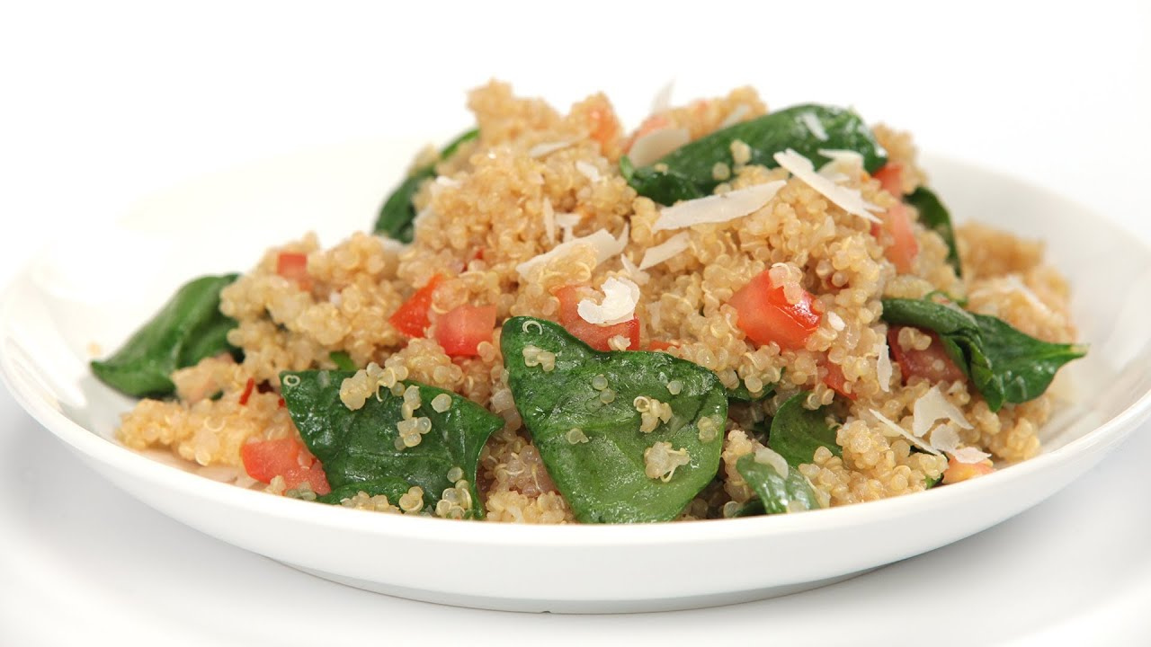 How To Cook Quinoa With Roasted Garlic, Tomatoes And Spinach  Myrecipes