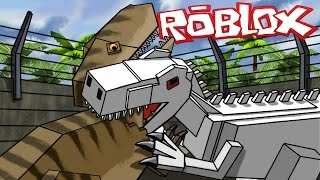 Roblox Movie | JURASSIC PARK: Indominous Rex vs Dinosaurs! (Roblox Adventures)