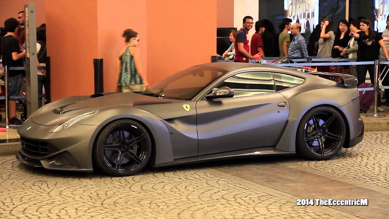Insane Matte Grey Novitec Rosso F12 N Largo With Adv 1