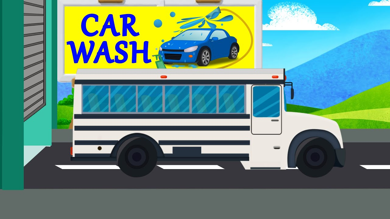 bus car wash for kids car bus and truck video for kids youtube