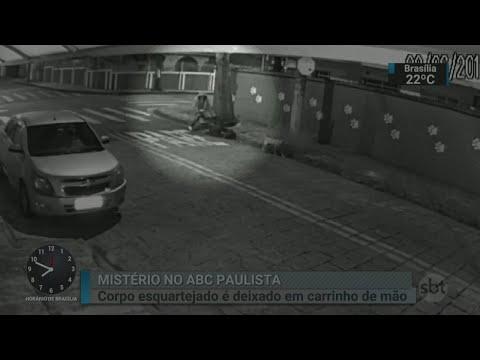 Corpo de homem é encontrado dentro de carrinho de mão na Grande SP | SBT Brasil (23/06/18)