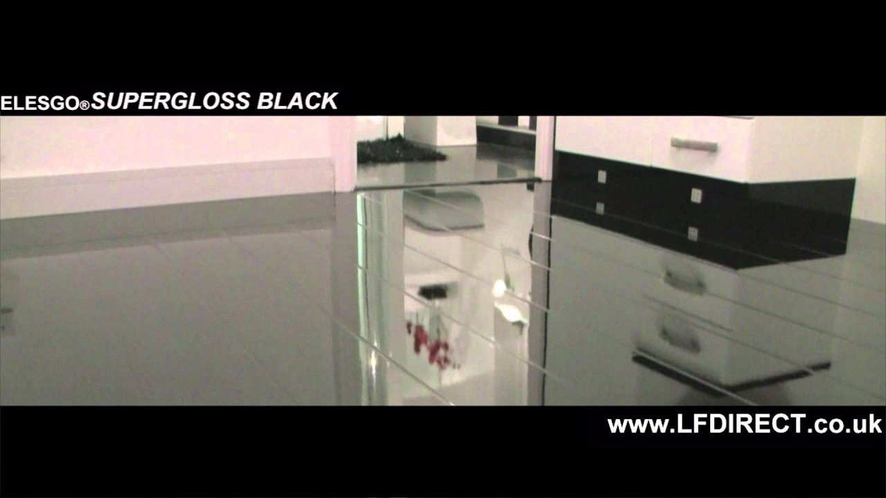 Elesgo Black High Gloss Laminate Floor