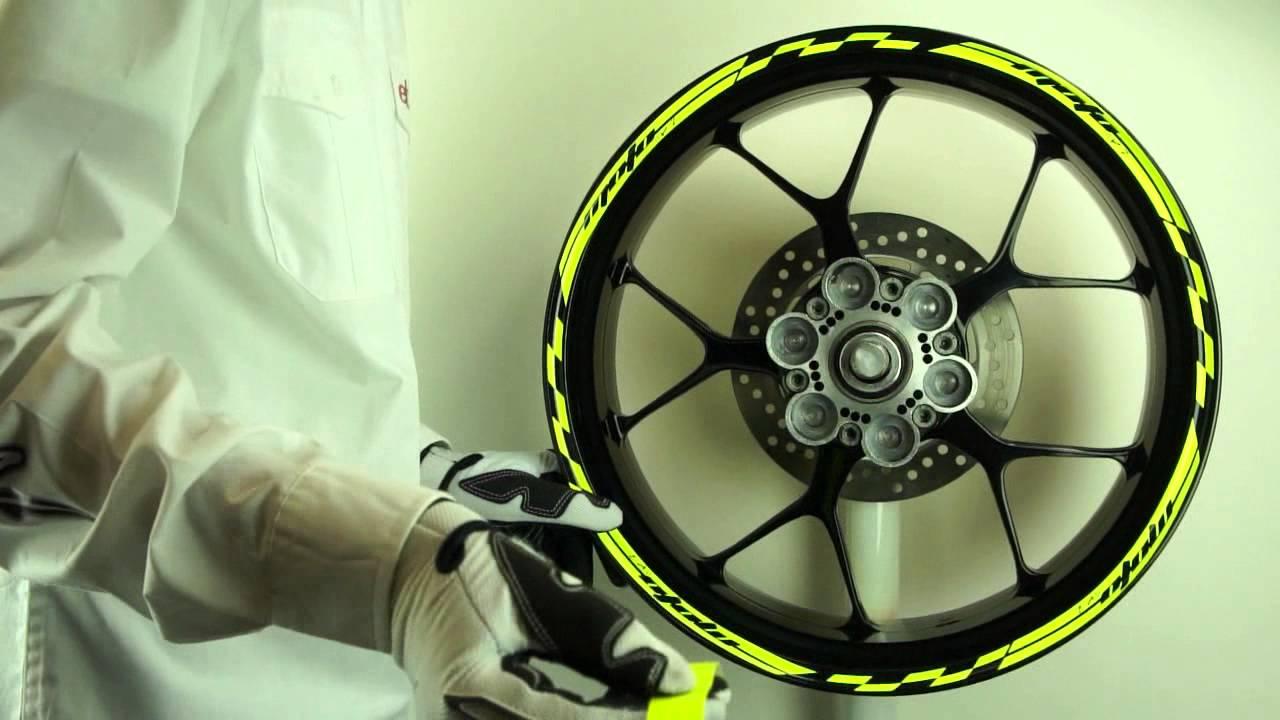 Motoinkz Fluorescent Yellow Inner Outer Racing Wheel
