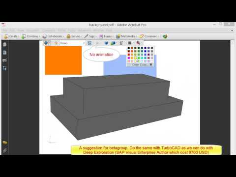 animation in 3D pdf and U3D