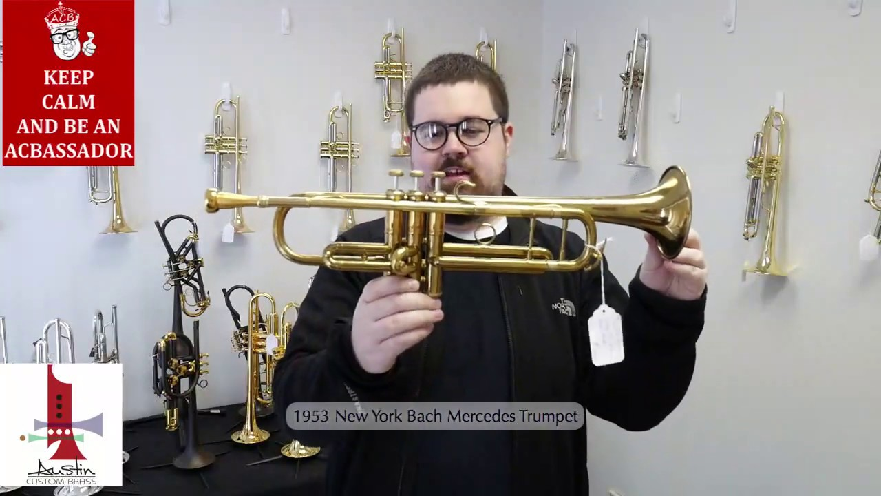 1953 new york bach mercedes trumpet for sale at acb youtube. Black Bedroom Furniture Sets. Home Design Ideas