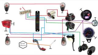 Простая проводка на мотоцикл часть 2