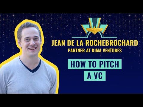 """""""How to pitch a VC"""" by Jean de La Rochebrochard"""
