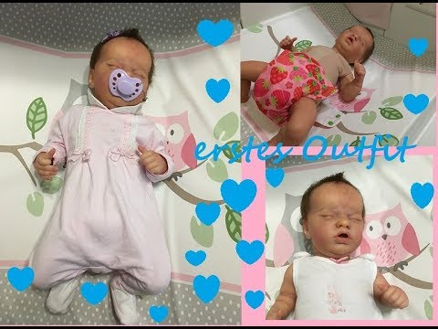Erstes Outfit Neues Mädchen Reborn Baby Youtube
