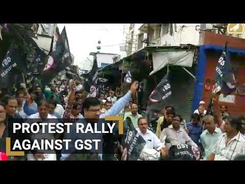 Cloth merchants protest against GST
