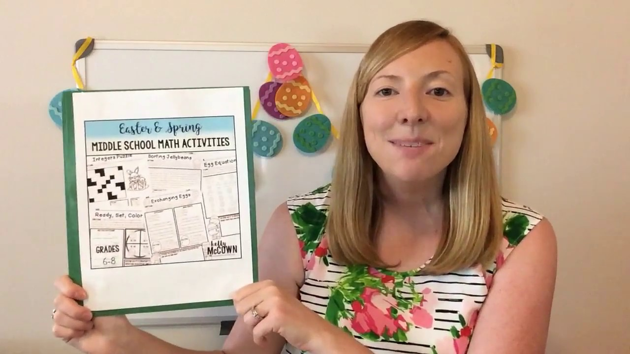 easter spring middle school math activities youtube