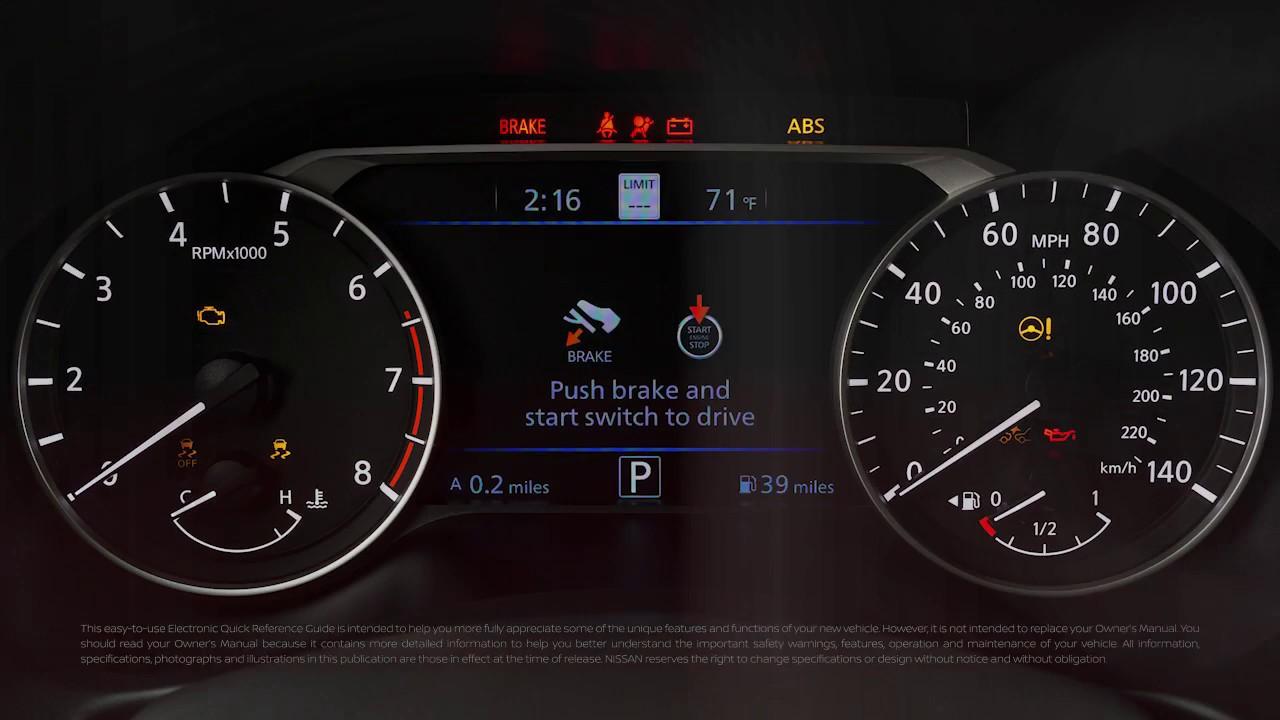 2019 Nissan Altima Warning And Indicator Lights