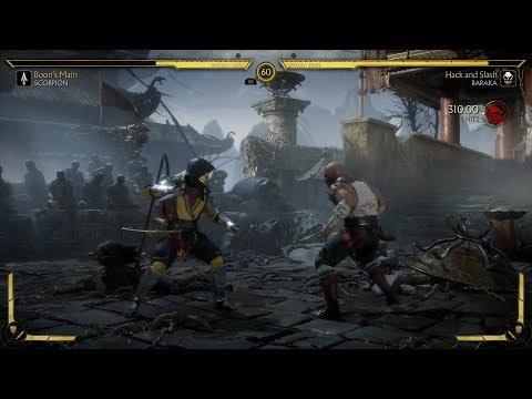 MK11: Scorpion Vs Baraka Gameplay