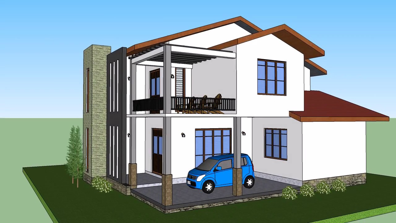 SRI LANKA NEW HOUSE PLAN DIGANA . SANDIYA AKKA HOUSE PLAN ...