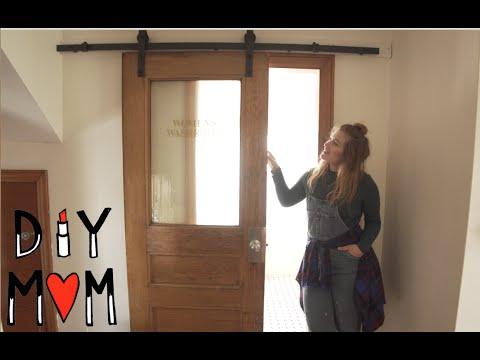 How To Install A Sliding Door Barn Door Kit Tutorial Youtube