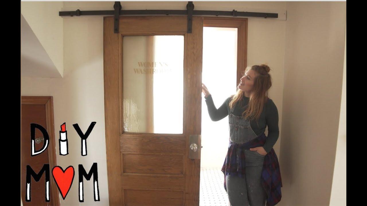 Diy Mom How To Install A Sliding Door Youtube