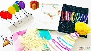 5 DIY BIRTHDAY CARDS IDEAS | Quick and Easy Birthday Card | Handmade and Simple