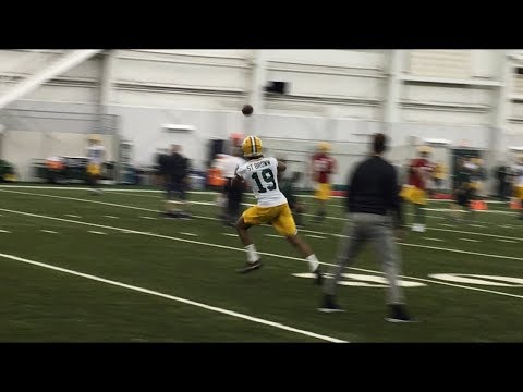 Green Bay Packers receiver drills