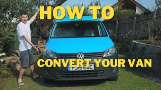 VW Caddy Maxi Conversion for less than £300!  Micro Camper Self Build!