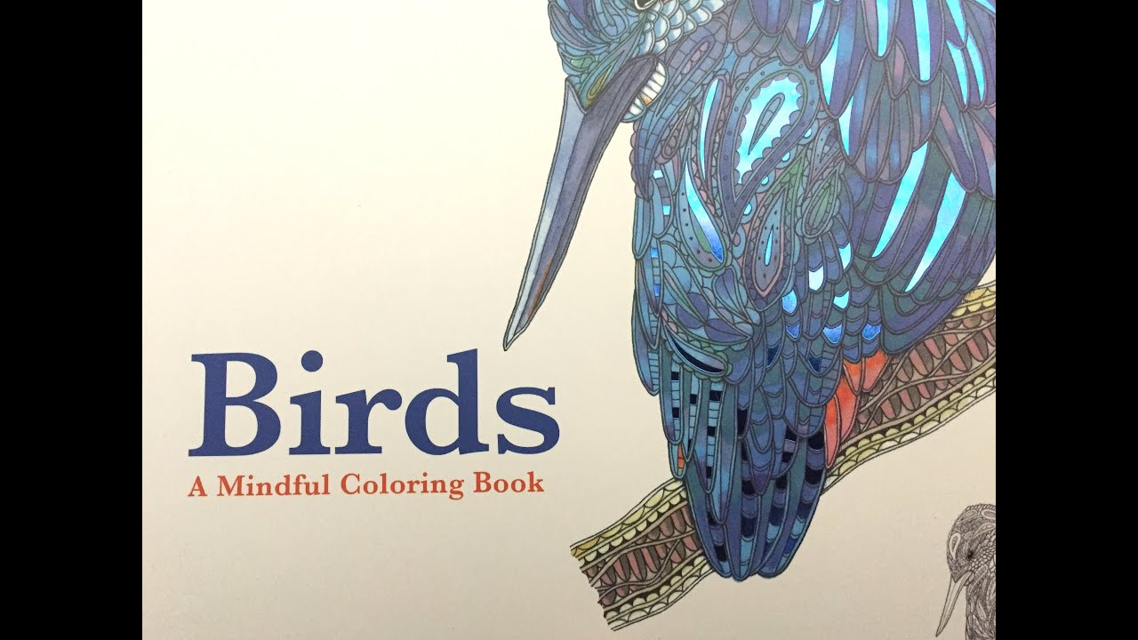 Birds Adult Coloring Book Review And Flipthrough
