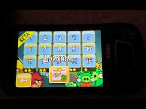 Angry Birds Beta on Samsung Galaxy GT-I7500 ( graphic issue )
