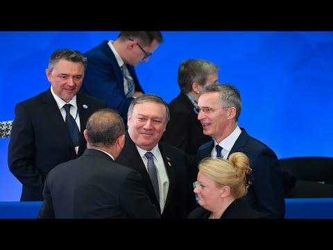 Pompeo, Stoltenberg, and NATO ministers speak after meeting