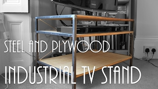 ►Luke Makes an Industrial TV Stand | How To | Part Two (of Two)◄