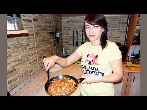 Гречневая лапша соба с курицей под соусом. ЯКИ СОБА, японская кухня (обалденно вкусно и просто!)