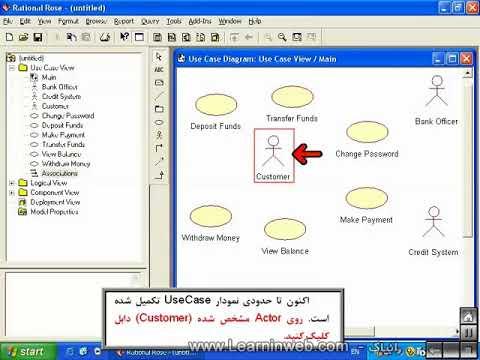 آموزش Uml فصل دوم نمودار Use Case Youtube