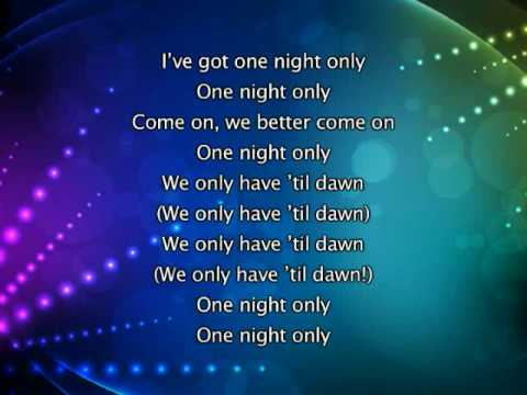 Beyonce - One Night Only (Dreamgirls Mix), Lyrics In Video