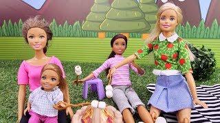 Куклы Барби - Подружки на пикнике. Видео для девочек.