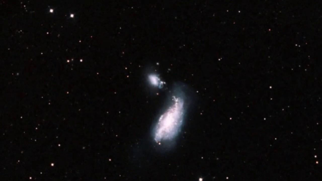 Irregular Galaxy NGC 4485 - Zoom Into Hubble Imagery - YouTube