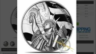 Liberty Island Ultra HIgh Relief 2 oz Silver Round & Disclaimer