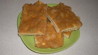 Простой рецепт вкусного пирога с яблочным вареньем