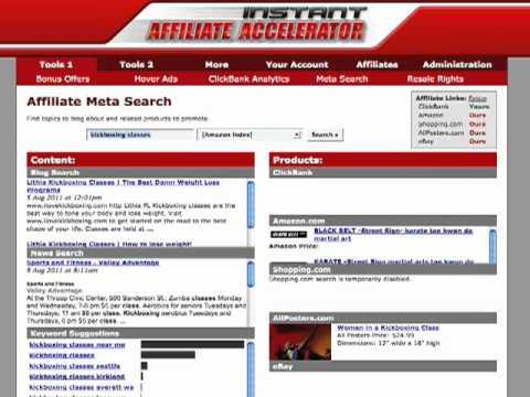 Affiliate Meta Search Tool