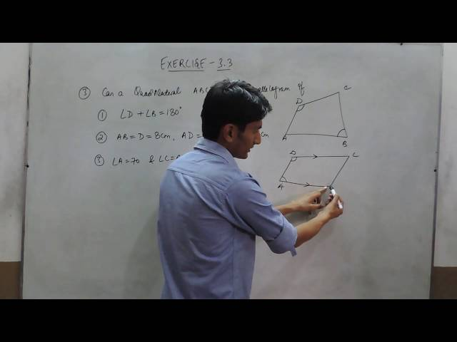 Exercise 3.3 - Question 3 NCERT/CBSE Solutions for Class 8th Maths (Understanding Quadrilaterals)