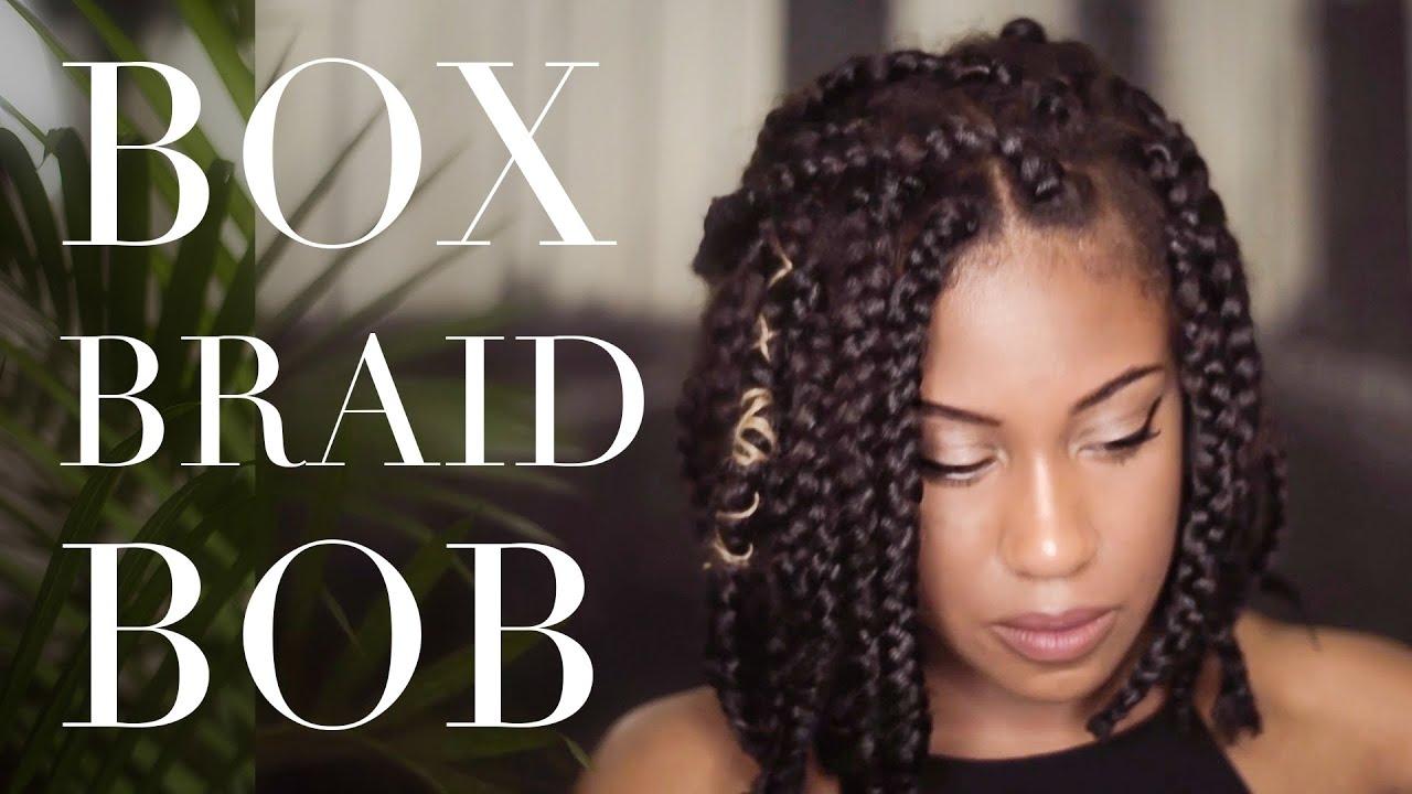 Box Braids Hairstyles Youtube: Styling And Installing Box Braid Bob