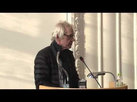 Lars Vilks speaks in the Danish Parliament building