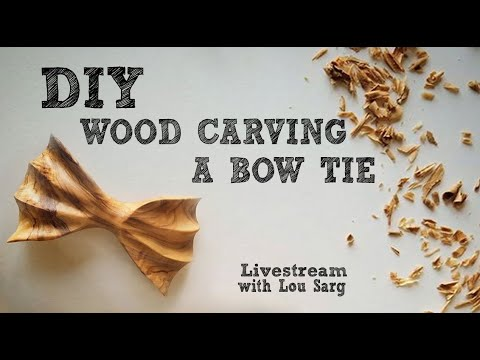 🔴 [ LIVE STREAM ]  DIY Woodcarving Bow Ties in Central Park with Lou Sarg